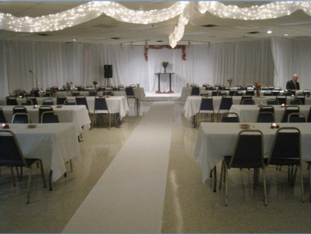 Banquet Hall Wedding Table Layout
