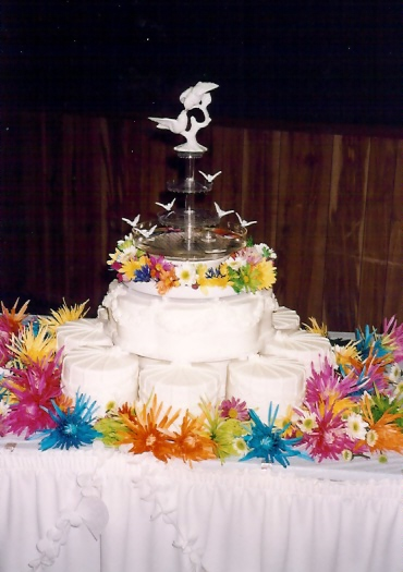 Banquet Hall Wedding Cake
